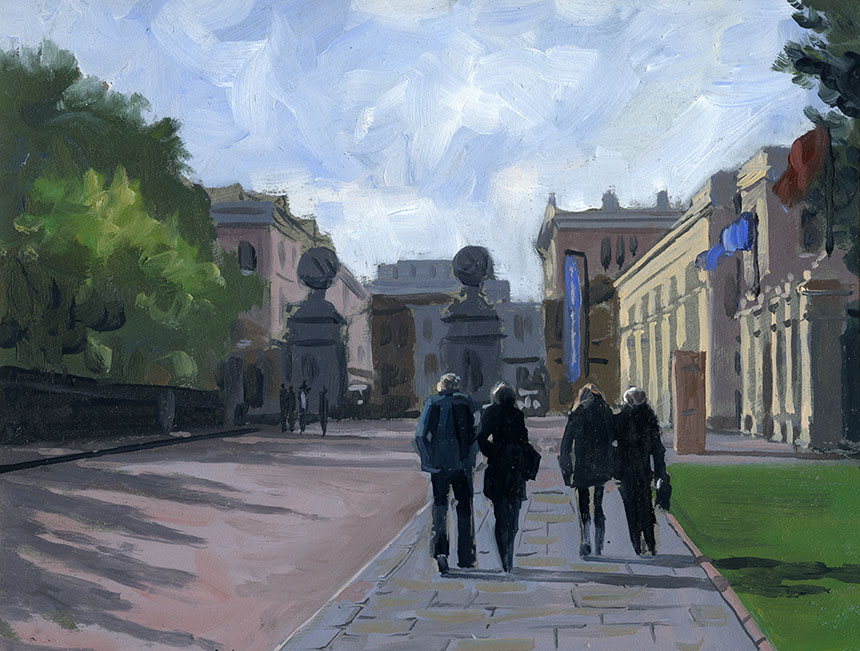 Greenwich, London, plein air, oils, painting