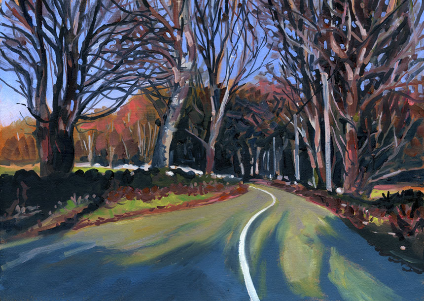 Road, Ireland, eire, painting, plein air, clare
