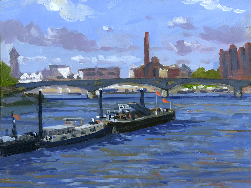 Thames, London, plein air, river