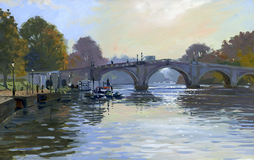 Richmond, Thames, Plein air, oil painting