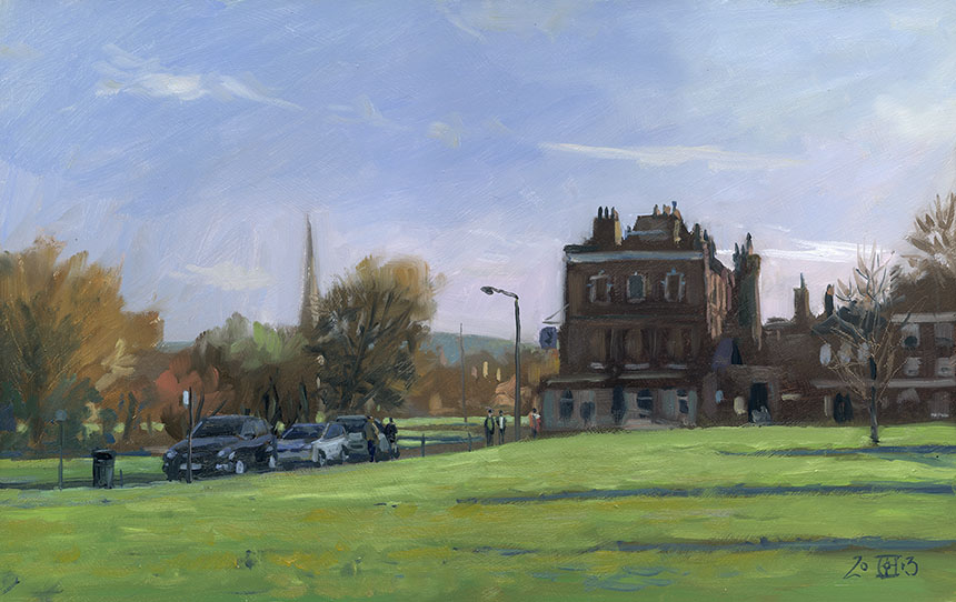 Blackheath, London, plein air, oils