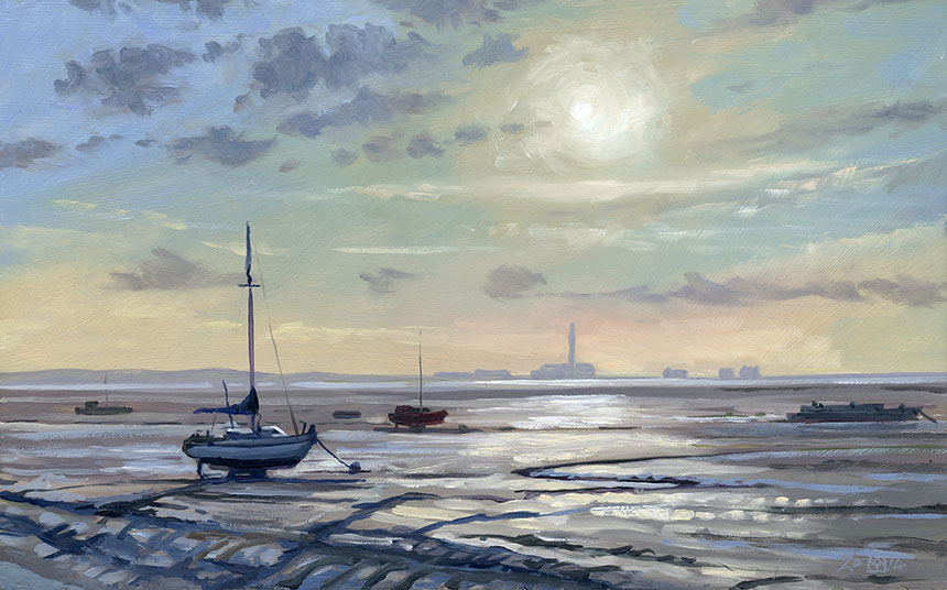 Leigh on Sea, Thames, Essex, Brass Monkeys, Plein air, oil painting