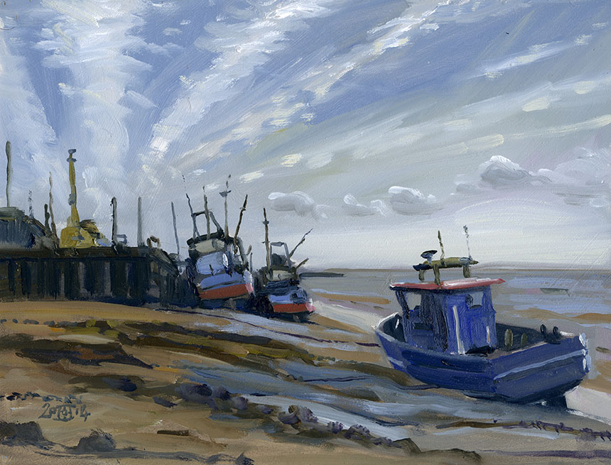 Leigh on Sea, Essex, plein air, Brass Monkeys, oil painting
