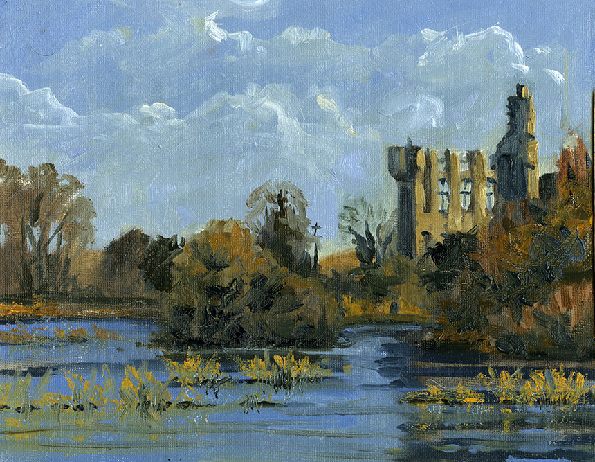 Camus Bridge, Tipperary, Ireland, plein air, oil painting
