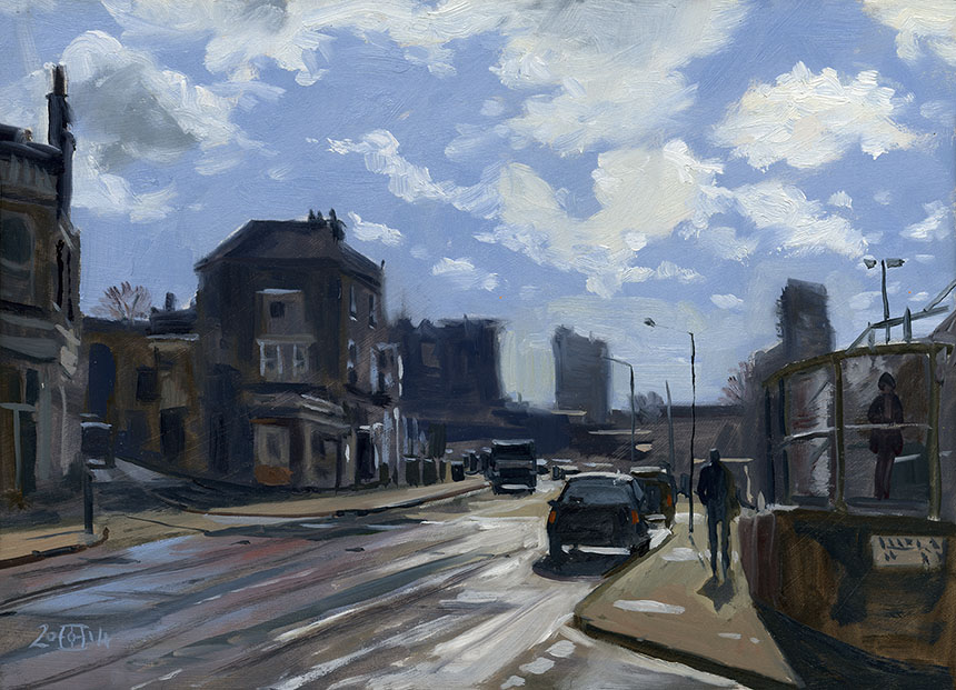 Deptford, Coldbath Street, London, plein air, oil painting