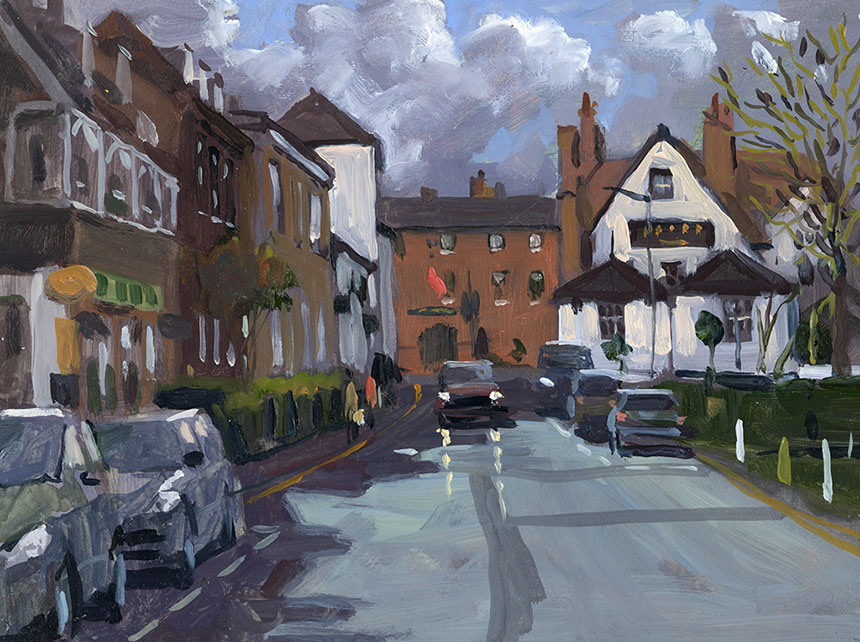henley upon Thames, Thames, Plein air, oil painting