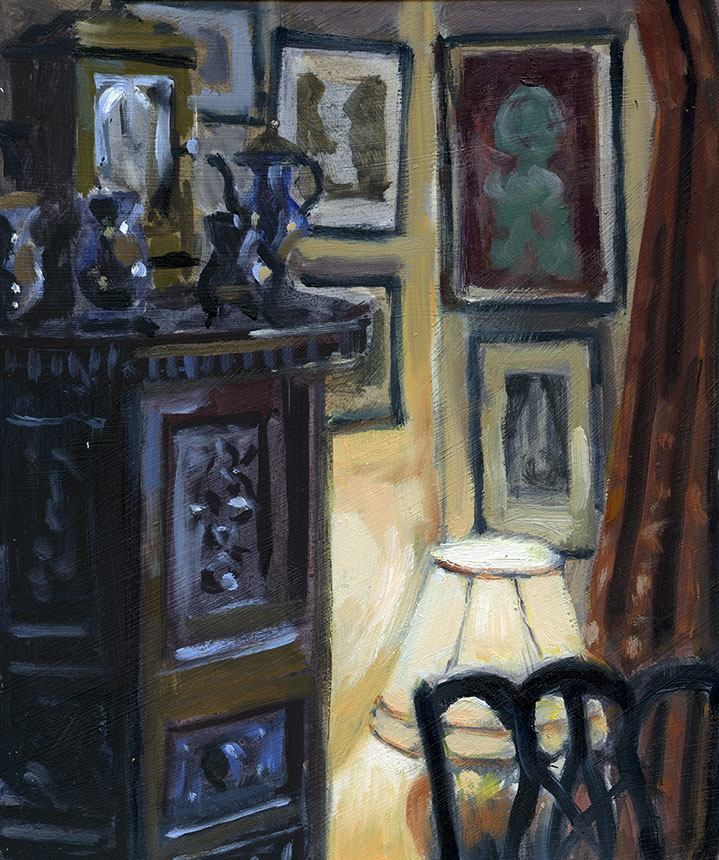 interior, oil painting