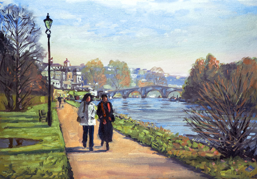 Richmond, thames, london, painting, plein air, oils