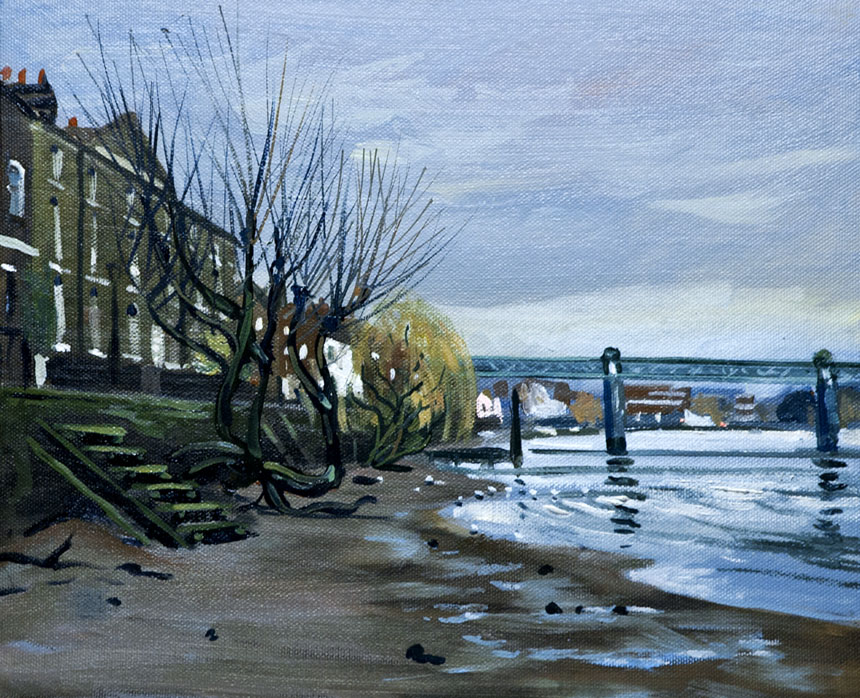 London, river, thames, plein air