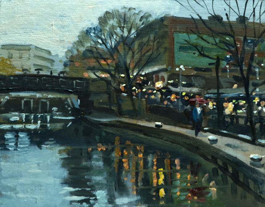 Camden, London, canal, plein air