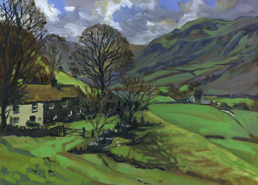 Martindale, cumbria, lake district, Ullswater, plein air, painting, oils