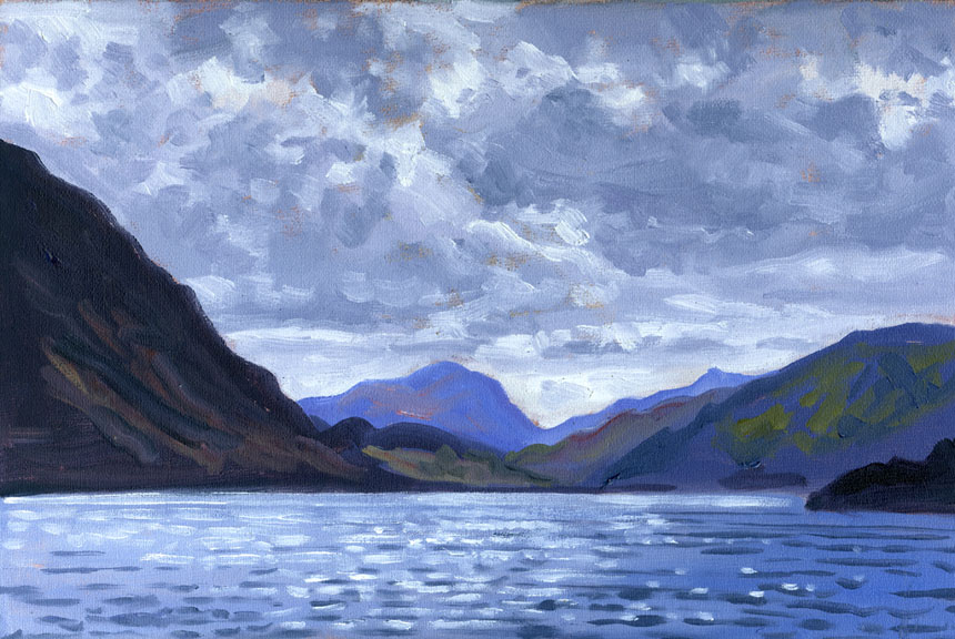 Ullswater, cumbria, lake district, plein air, oil painting