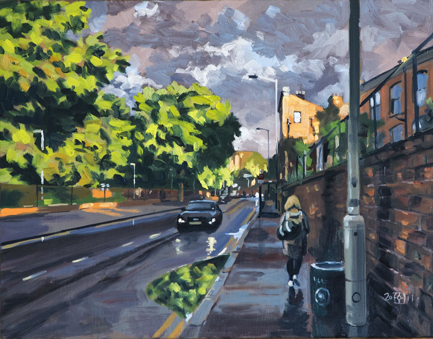 Deptford, London, Rain, plein air, oil, painting