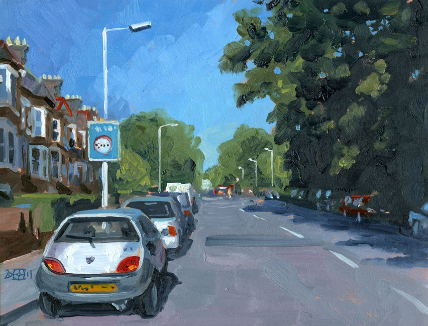 Telegraph Hill, London, plein air, oil, painting