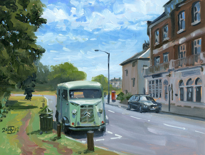 Citroen, Blackheath, London, oil, painting, plein air