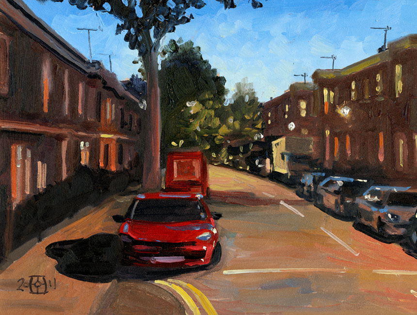 Deptford, St Johns, London, plein air, painting, oil