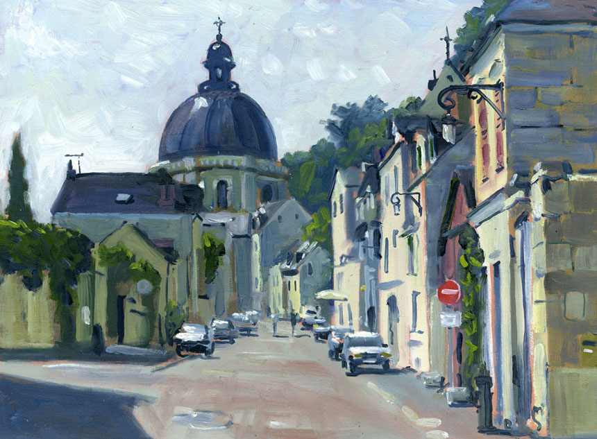 Saumur, plein air, oil, painting, France