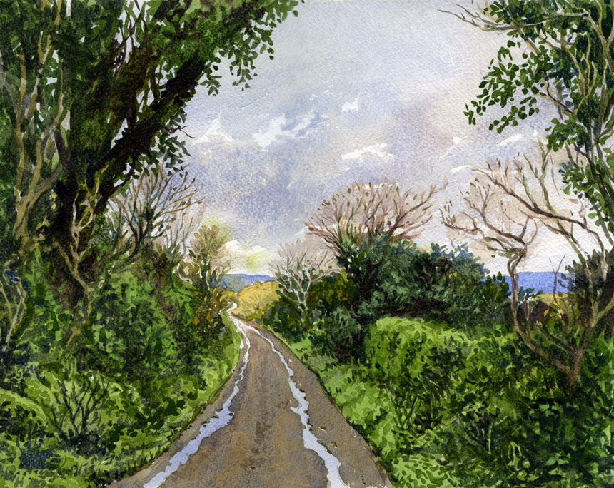 ireland, Clare, watercolour, Painting, Rob Adams