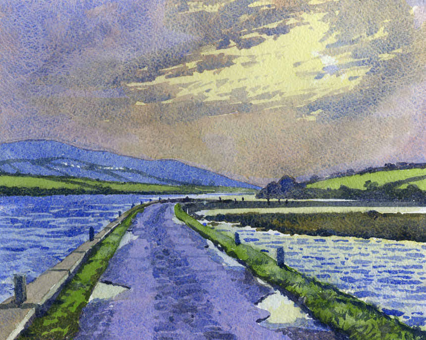 Finvarra, Galway, Ireland, watercolour, Rob Adams, Painting