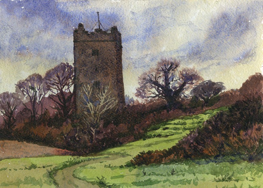 Dysert, Clare, Ireland, Watercolour, plein air, Rob Adams
