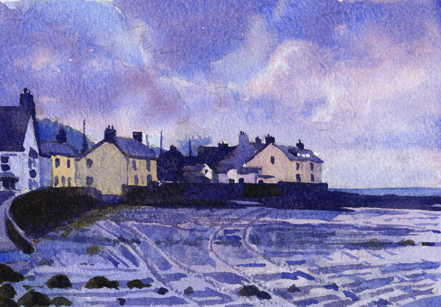 Newport, Pembrokeshire, Wales, Rob Adams, watercolour, painting, plein air