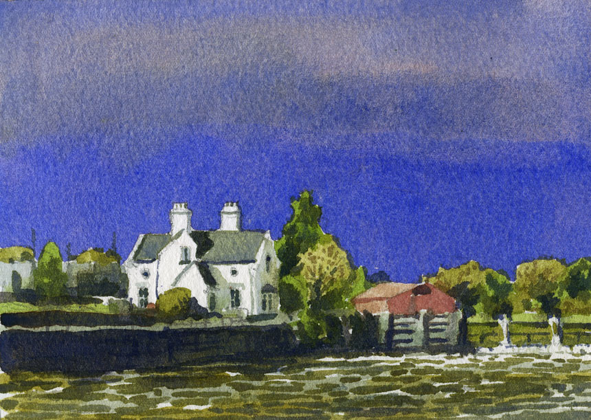 Galway, watercolour, painting, Rob Adams, ireland