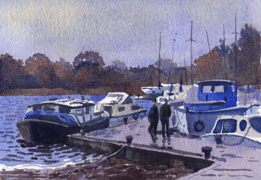 East Clare, Lough Derg, watercolour, plein air, Rob Adams, ireland