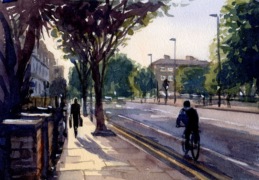 Acton, Bromyard Avenue, the Vale, London, plein air