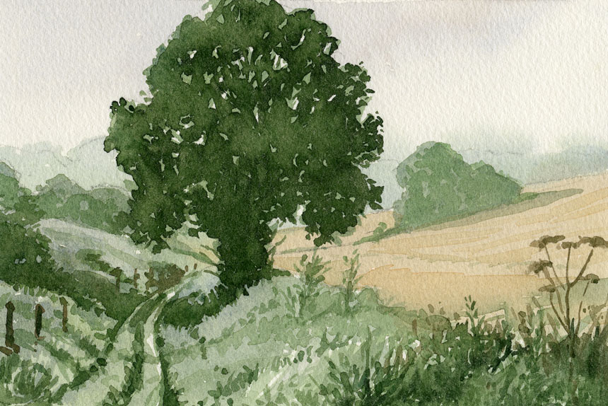 Dorset, watercolour plein air