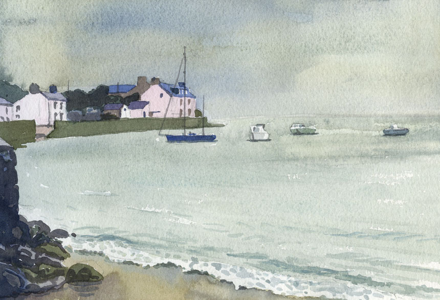 Newport, pembrokeshire, wales, watercolour