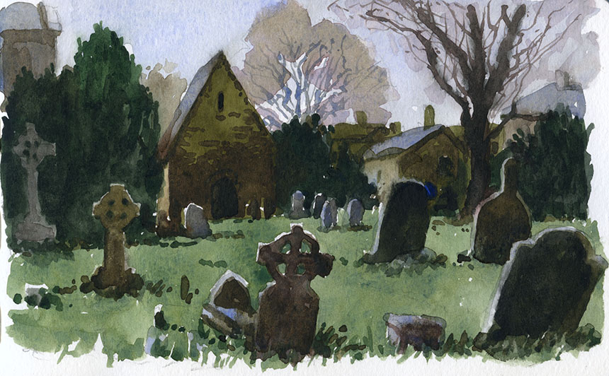Killaloe, ireland, graveyard