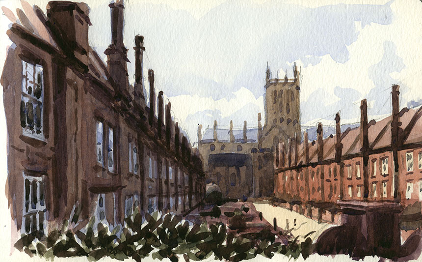 Wells Cathedral, Somerset, watercolour