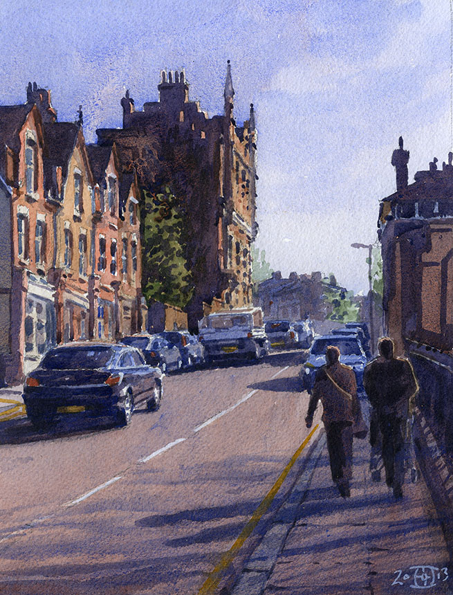 Friendly St, Deptford, London, watercolour