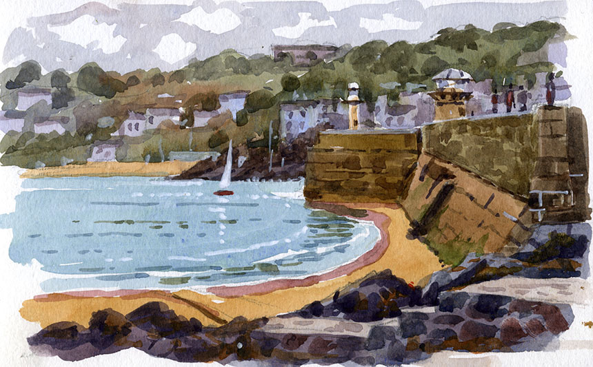 St Ives, watercolour, Cornwall, plein air.