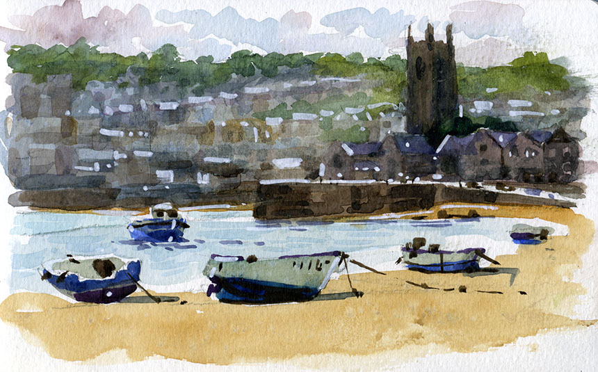 St Ives, watercolour, plein air