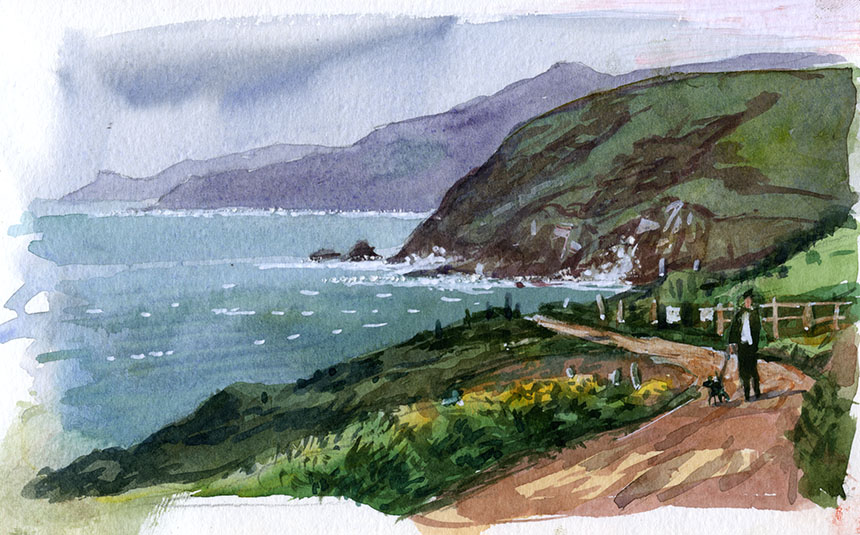 Levant, st Just, Cornwall, watercolour