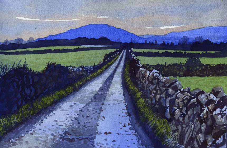 Co Clare, Eire, Ireland, Watercolour, watercolor. painting