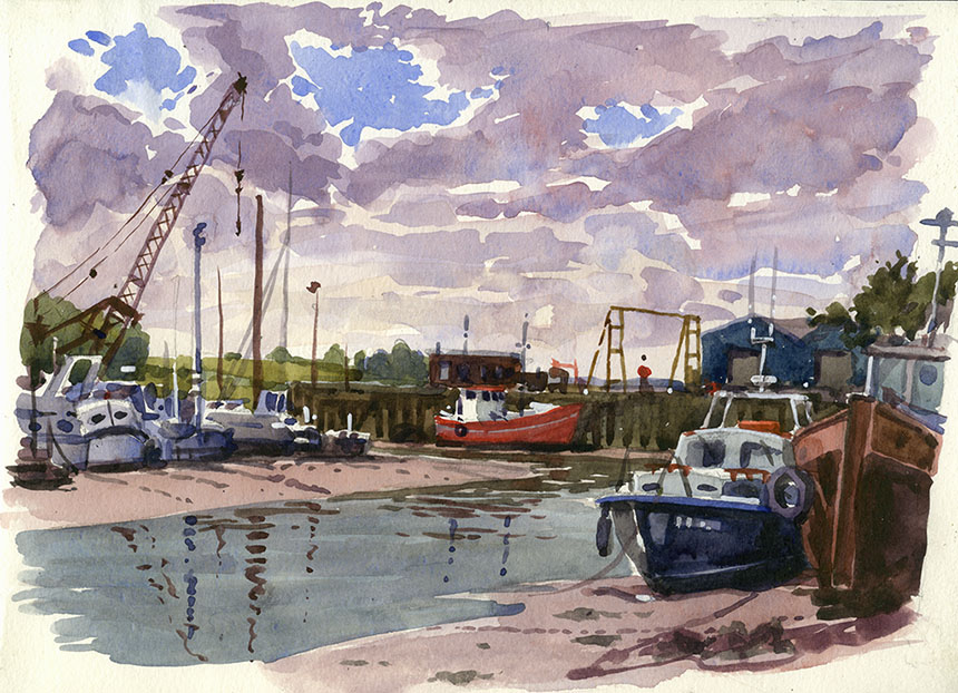 Queensborough, Sheppey, Kent, watercolour