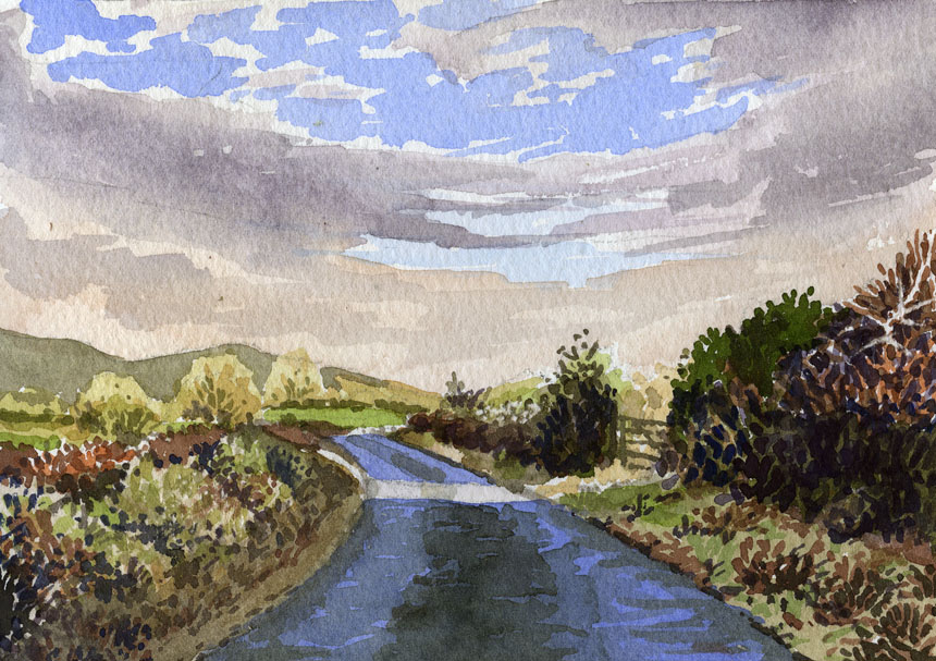 Co Clare, burren, watercolour, painting