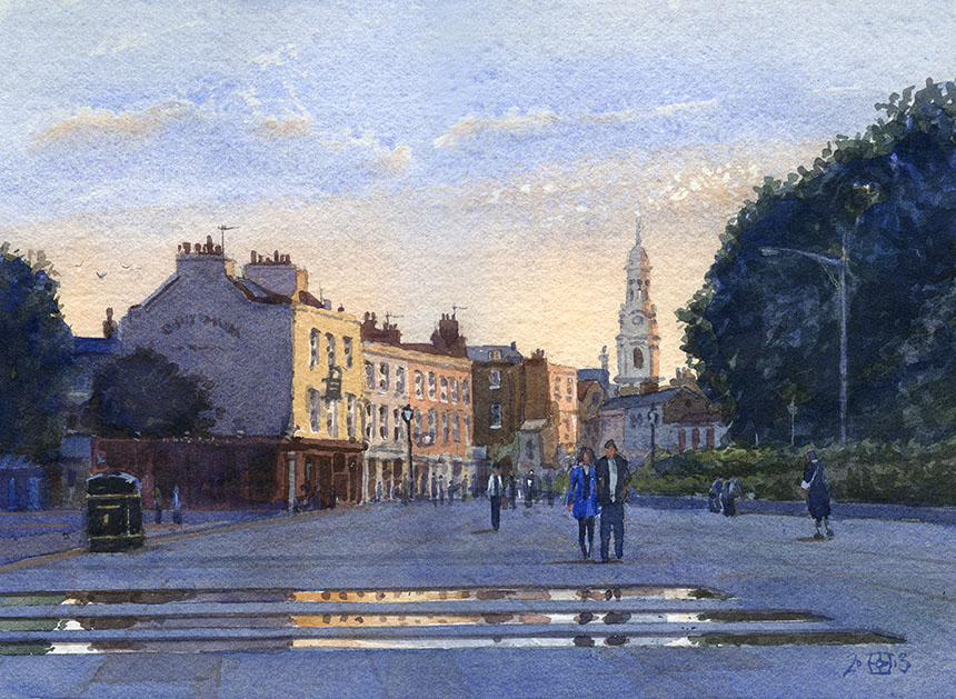 Greenwich, watercolour, plein air, painting