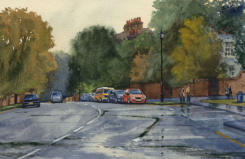Croom's Hill, Greenwich, watercolour