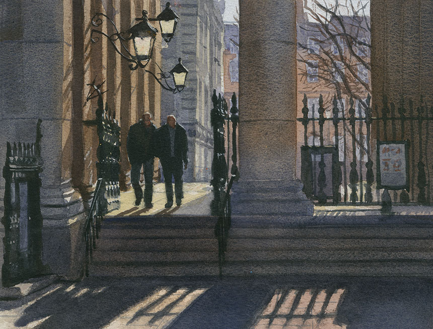 St Martins, London, watercolour
