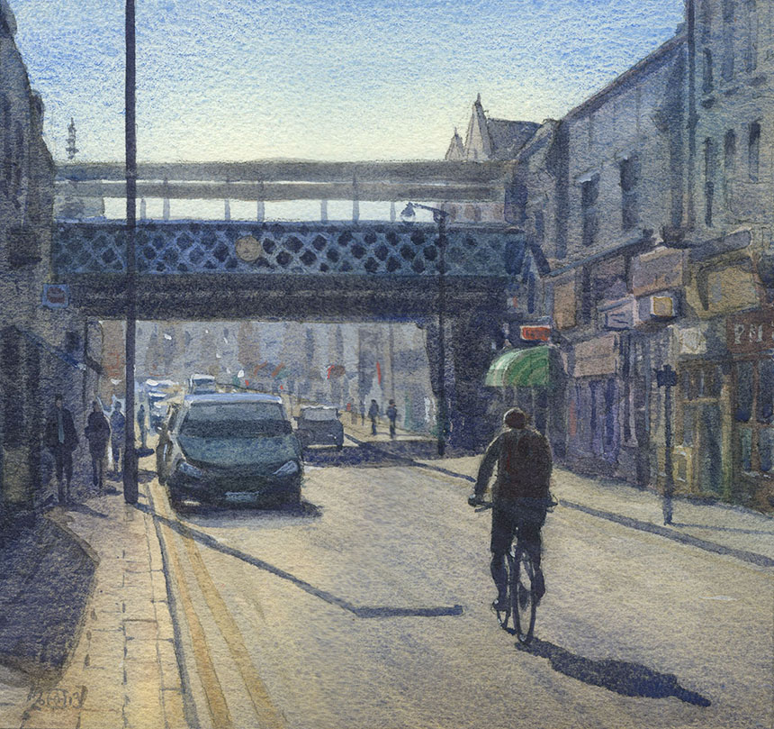 Deptford, Station, watercolour