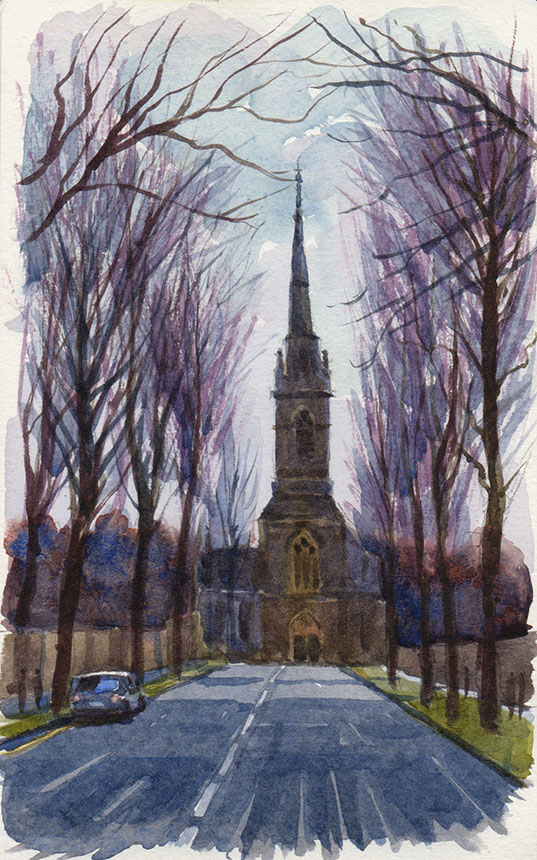 Templemore, Ireland, watercolour