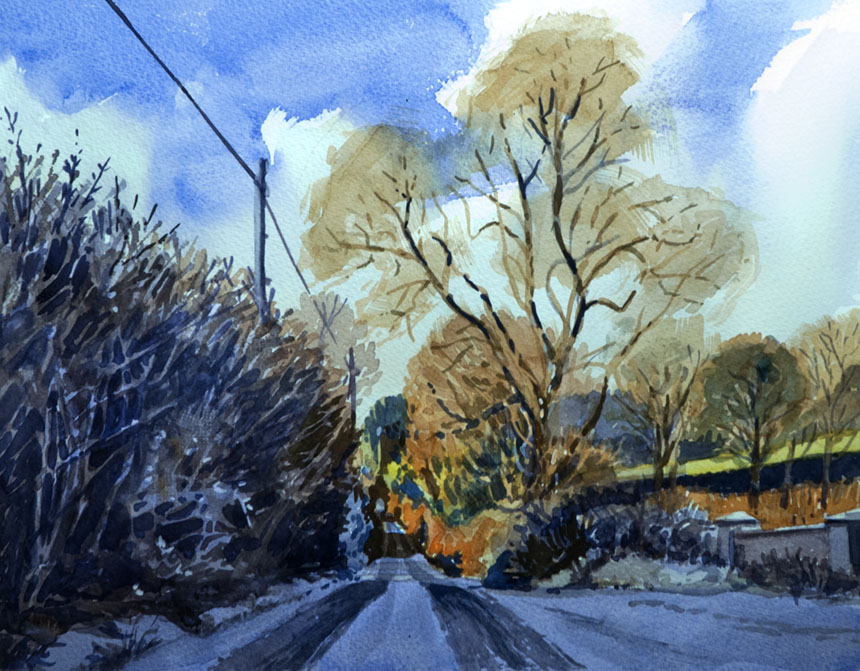 Clare, Ireland, Watercolour, watercolor, painting