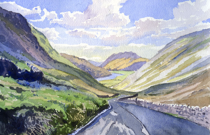 Patterdale, Cumbria, lake district, watercolour, plein air, painting