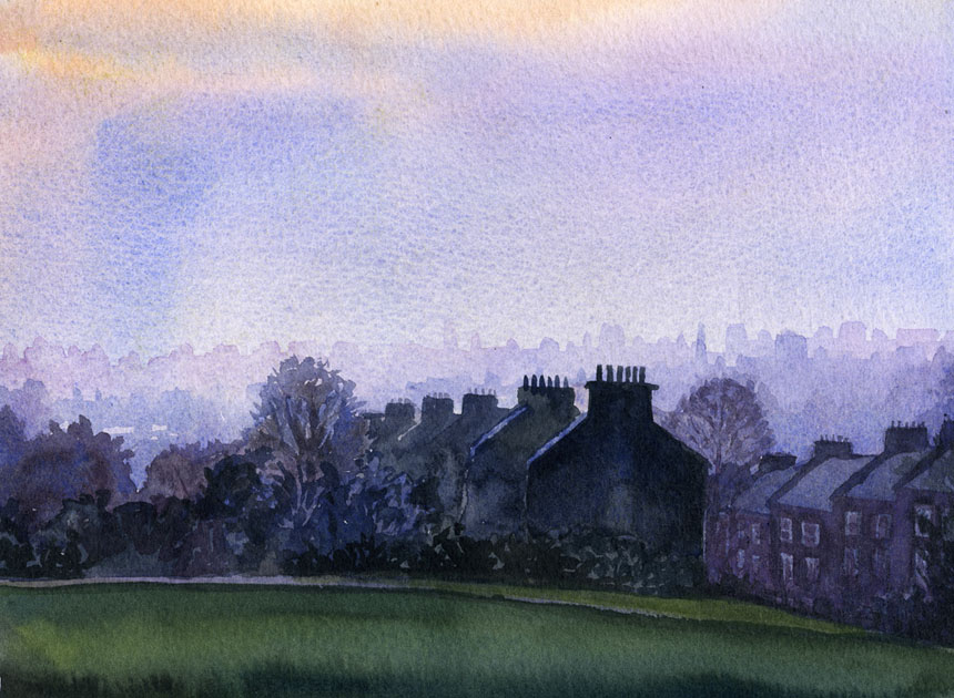 Telegraph Hill, london, newcross, watercolour