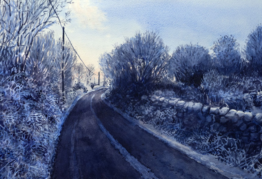 Watercolor, watercolour, painting, Ireland, eire, clare