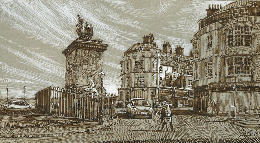 Weymouth, pen and ink, drawing