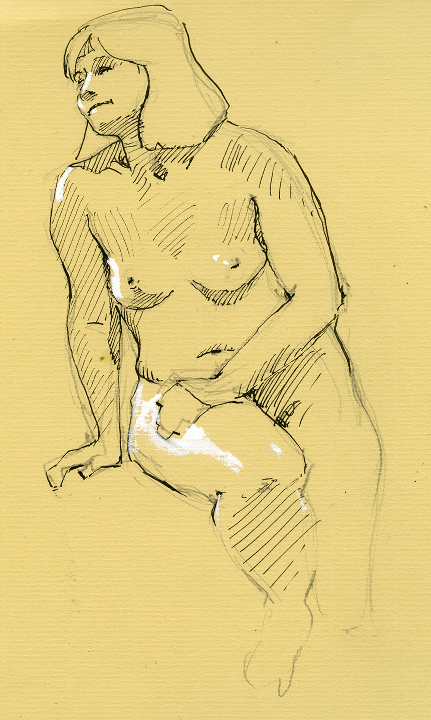 pen drawing, life drawing, figure